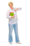 Senior woman with books Royalty Free Stock Images