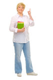 Senior woman with books Stock Image