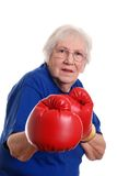 Senior woman boxing Royalty Free Stock Image