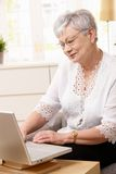 Senior woman browsing internet Royalty Free Stock Images
