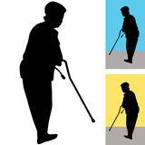 Senior Woman With Cane Royalty Free Stock Images