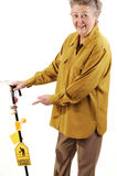 Senior woman with cane. Stock Images