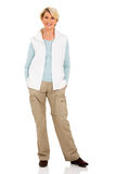 Senior woman casual clothes Royalty Free Stock Photography