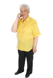 Senior woman with cell phone Stock Photography