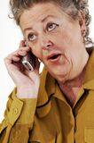 Senior woman on the cell phone. Stock Image