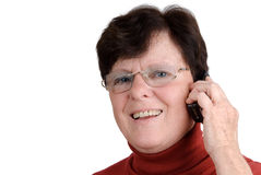 Senior woman with cellphone Stock Image