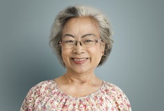 Senior Woman Cheerful Happiness Retirement Concept Stock Photography