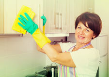 Senior woman cleaning Stock Photography