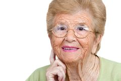 Senior woman close up portrait. Royalty Free Stock Photos
