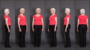Senior Woman Collage Royalty Free Stock Image