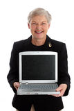 Senior Woman With Computer Stock Image