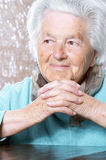 Senior woman contemplating Royalty Free Stock Photo