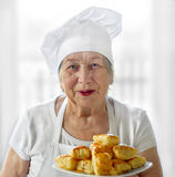 Senior woman cook Stock Photo