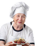 Senior woman cook Royalty Free Stock Photos
