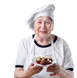 Senior woman cook Stock Image
