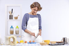 Senior woman cooking Royalty Free Stock Photo
