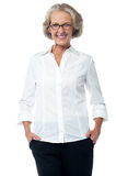 Senior woman in corporate attire Stock Photo
