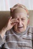 Senior woman crying Royalty Free Stock Photo