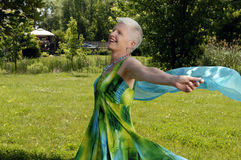 Senior woman dancing Royalty Free Stock Image