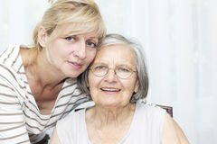 Senior woman with daughter Stock Photos