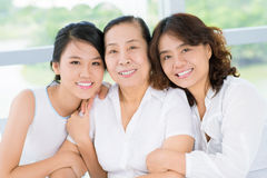 Senior woman with daughter and granddaughter Royalty Free Stock Images