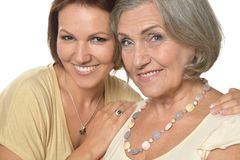 Senior woman with daughter Royalty Free Stock Image