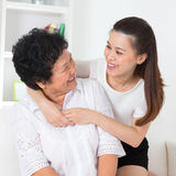 Senior woman and daughter. Stock Photography