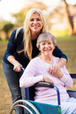 Senior woman daugther Royalty Free Stock Photography