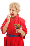 Senior Woman - Delicious Berries Royalty Free Stock Images