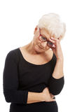 Senior woman depressed Royalty Free Stock Images