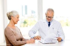 Senior woman and doctor meeting Royalty Free Stock Photography