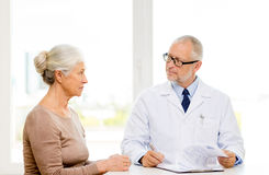 Senior woman and doctor meeting Royalty Free Stock Photo