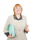 Senior woman with documents Royalty Free Stock Photo