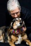 Senior woman with dog Royalty Free Stock Image