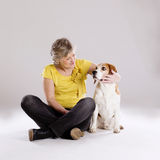 Senior woman with dog Royalty Free Stock Photo