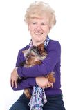 Senior woman  with dog Stock Image