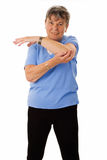 Senior woman doing exercises Royalty Free Stock Images