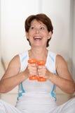Senior woman doing fitness Stock Photo