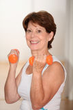 Senior woman doing fitness Royalty Free Stock Photography
