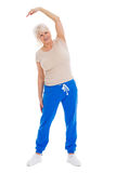 Senior woman doing fitness exercises Royalty Free Stock Photo