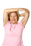 Senior woman doing stretching Royalty Free Stock Photography