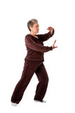Senior woman doing Tai Chi Yoga exercise Stock Images