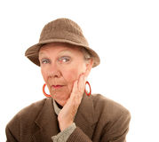 Senior woman in drag Royalty Free Stock Photography