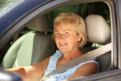 Senior woman driver Royalty Free Stock Photography