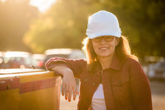 Senior woman engineer portrait Stock Image