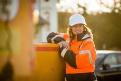 Senior woman engineer portrait Stock Photos