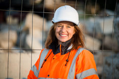 Senior woman engineer portrait Stock Photo