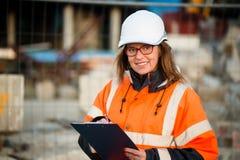 Senior woman engineer at work Stock Image
