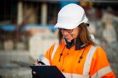 Senior woman engineer at work Stock Images