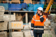 Senior woman engineer working Stock Images